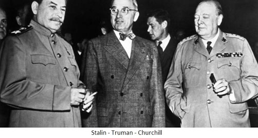 Stalin Truman Churchill
